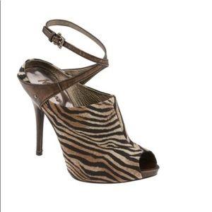 "Marciano ""Tamina"" leather peep toe pump."